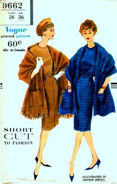 Vintage 50's Vogue Design 9662 Sewing Pattern ELEGANT by anne8865