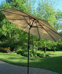 Another great find on #zulily! Brown 9' Crank-n-Tilt Umbrella by Oakland Living #zulilyfinds $139.99