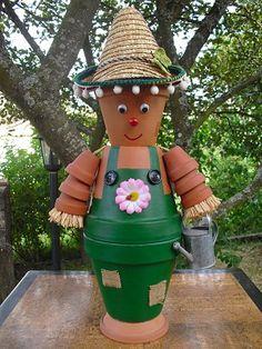 personnage en pot de terre cuite - Recherche Google