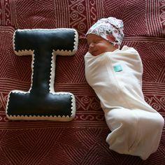 Alphabet Letter Pillow, Crochet Edging & Faux Leather, One Made To Order Letter Pillow, House Design Photos, Unique Home Decor, Accent Pillows, Color Combinations, Nursery Decor, Announcement, Crochet Alphabet, Lettering