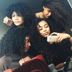 Beautiful Girls, with Curly hair (: