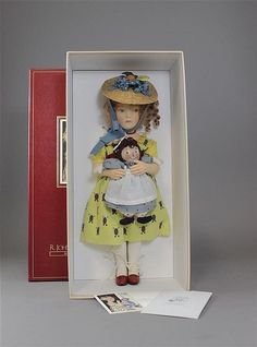 "R. JOHN WRIGHT ""MARCELLA & RAGGEDY ANN"", LIMITED EDITION NO. 24/250, IN ORIGI..."