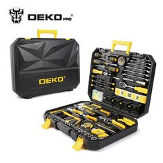 Cheap hand tools kit, Buy Quality tool kit directly from China tool set Suppliers: DEKOPRO 168 Pcs Hand Tool Set General Household Hand Tool Kit with Plastic Toolbox Storage Case Socket Wrench Screwdriver Knife Hand Tool Kit, Tool Set, Hand Tools, Dewalt Tools, Chisel Set, Mechanic Tools, Wrench Tool, Woodworking Books, Fine Woodworking