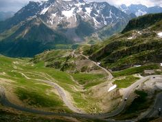 Tour de France in the Alps - Col du Galibier, Savoie/Hautes-Alpes, France