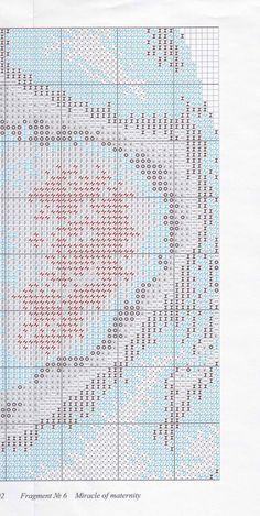 """Скачать схему вышивки """"Золотое руно"""" Серия: Свет жизни СВ-002 """"Чудо материнства"""" Pitchers Of Flowers, Cross Stitch, Bullet Journal, Map, Embroidery, Portugal, Window, Punto De Cruz, Dots"""