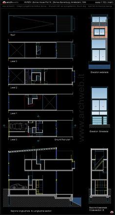 Borneo House Plot 18, Borneo-Sporenburg Amsterdam (1999) | MVRDV | Archweb Autocad