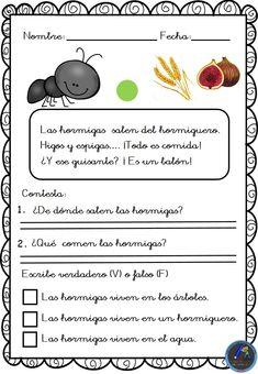 Textos cortos. Lecturas comprensivas - Imagenes Educativas Spanish Class, Spanish Lessons, Teaching Spanish, Reading Comprehension, Acting, Homeschool, Language, Activities, How To Plan