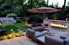Luxury Modern Backyard Sitting Area Modern Outdoor Fireplace Designs Awesome Decorate Outdoor Design Ideas For Your Inspiration Small Backyard Landscaping, Modern Backyard, Modern Landscaping, Small Patio, Backyard Patio, Landscaping Ideas, Backyard Ideas, Patio Ideas, Deck Pergola