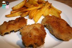 Mini Schnitzel & Pommes selbst gemacht Rezept Nuggets kinderessen