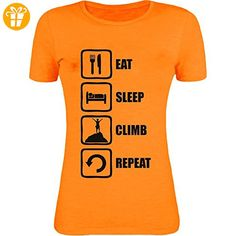 Eat Sleep Climb Repeat Black Graphic Mountain Climbing Womens T-Shirt XX-Large (*Partner-Link)