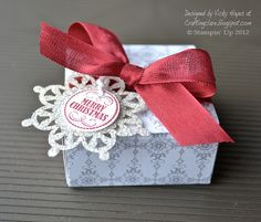 Stampin' Up ideas and supplies from Vicky at Crafting Clare's Paper Moments: Wrap around box tutorial