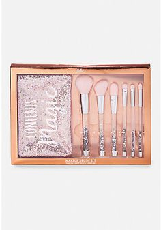 Shaky Glitter Make Up Brush Set