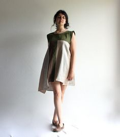 Linen dress linen tunic tunic dress women dress day by LoreTree