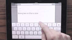 Hooper Selection, a prototype that makes editing text with iPads better