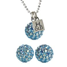 Aquamarine Sparkle Earrings and Necklace Set – Hillberg & Berk