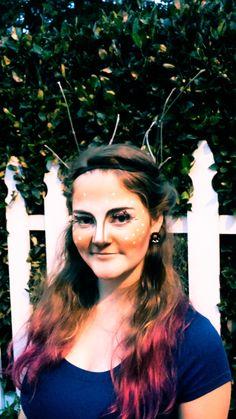 Deer makeup.