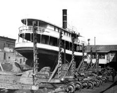 "Steamboat ""May Garner"" at dry dock for annual overhaul - Jacksonville, Florida"