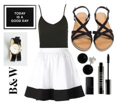 """""""Untitled #22"""" by theinvisibleperson ❤ liked on Polyvore featuring Topshop, ComeForBreakfast, Olivia Burton, NARS Cosmetics, Bridge Jewelry and Lord & Berry"""