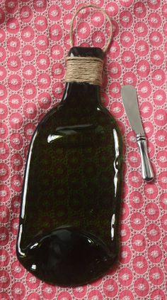 FREE SHIPPING  Slumped wine bottle  Recycled by FlatBottleGirls, $26.00