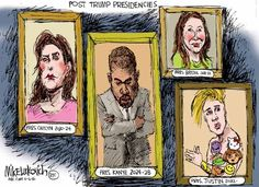 The dumbing down of America could not get any worse ... Political Cartoons of the Week: Post-Trump Presidencies