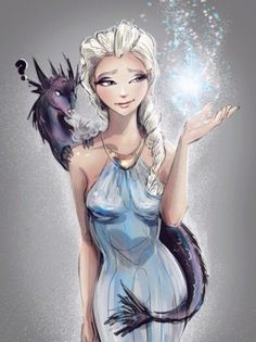 Elsa, Iron Throne, Game of Thrones, mashup, Frozen, Disney, The Cold Never Bothered Me Anyway