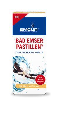 Emcur Bad Emser Pastillen Vanille ohne Zucker für Kinder geeignet