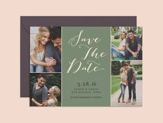 Save the Date Photo Collage Save the Date by AndisInvites on Etsy