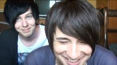 IT'S YOUNGER DAN AND PHIL THEY ARE SO FLIPPING ADORABLE I LOVE THEM! Dan and Phil. AmazingPhil and danisnotonfire.