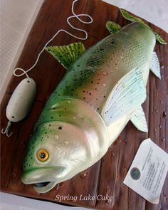 Fish cake for 50th birthday celebration. The wooden part that the fish sits on is also cake.