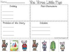 problem and solution using the three little pigs.  This paper is a freebie on her blog.