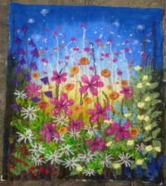 MarmaladeRose: 'Magical Meadow' Embroidered Felt Wall Hanging