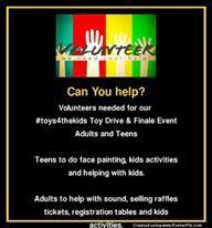 Volunteer Registrations for our #toys4thekids Finale Event 12 October - 5 December The WayBack