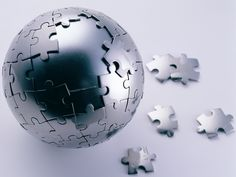 Very stylish: A sphere puzzle made of steel.
