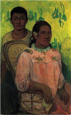 'Tahitian Woman and Boy'