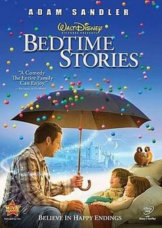 Having promised to make a film his own kids could enjoy, Adam Sandler (YOU DON'T MESS WITH THE ZOHAN) delivers the goods in the charming fairy tale BEDTIME STORIES. As the film opens we meet Marty Bro