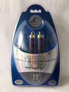 Digital Coax Audio Cable with Gold Plated RCA Connectors New in Blister Pack 9' #ethereal