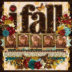 Sweetshoppe Designs  Credits:  Cindy's Layered Templates - Half Pack 204: Finally Fall by Cindy Schneider   Fall into Autumn: Bundle by Kristin Cronin-Barrow  Layout by Kjersti Sudweeks  12x12 Scrapbook Ideas Fall  Digiscrap Ideas Fall