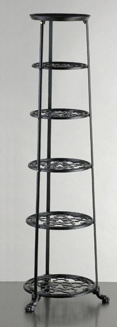 Six Tier Pan Stand - A classic six tier pan stand. Made from cast aluminium and available in either black or champagne.