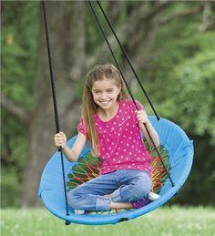 HearthSong Sunburst Swinging Chair Outdoor Play Toys from HearthSong on Catalog Spree, my personal digital mall. Backyard Toys, Backyard Trampoline, Backyard Playground, Backyard For Kids, Outdoor Games For Kids, Outdoor Toys, Outdoor Play, Outdoor Ideas, Outdoor Decor