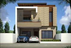view of house by square designs modern granite House Elevation, Front Elevation, Little Houses, Small Houses, Small House Exteriors, Spanish Style Homes, Modern Exterior, Minimalist Home, My House