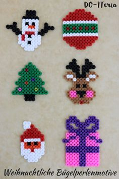 weihnachten motive Du such - Perler Bead Templates, Diy Perler Beads, Perler Bead Art, Yarn Crafts, Bead Crafts, Christmas Perler Beads, Art Perle, Diy Jewelry To Sell, Hama Beads Design