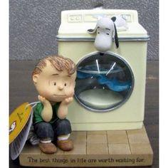 hallmark snoopy figurines | com: Hallmark Snoopy PAJ4422 Linus and Snoopy Washing Machine Figurine ...