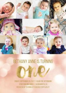 Bokeh 1st Birthday Collage
