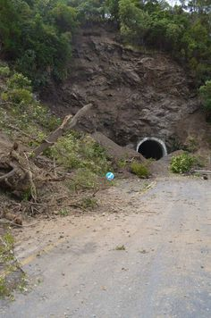 Result of 7.8 earthquake Kaikoura NZ. That was SHW1 and a road tunnel