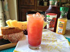 Family Friendly Drinks - Simply Cranberry Orange Sunset Beach