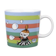 Muumi-muki Saippuakuplia Pikku Myy Moomin mug / cup, Little My and soap bubbles, Arabia, Finnish Design -One of my favorite coffee mugs- Moomin Mugs, Tove Jansson, Best Cleaning Products, Scandinavian Interior Design, Scandinavian Style, Funny Illustration, Illustrations, Soap Bubbles, Little My
