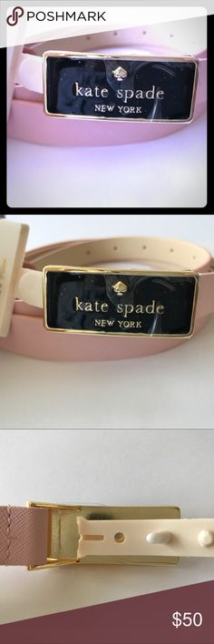"""Authentic Kate Spade Belt (XL) Beautiful saffiano leather Kate Spade Belt in blush pink. Hidden hook closure for an elegant streamline look. Lovely piece for any fashionista! New with tags (plastic protective cover is still attached to front of buckle)... please note price is firm.  Length 46"""" (Belt Holes at 38.5""""- 42.5"""") kate spade Accessories Belts"""