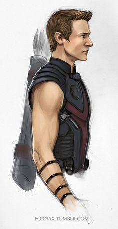 Hawkeye. I really like this drawing, I might try to recreate it in captain America's image