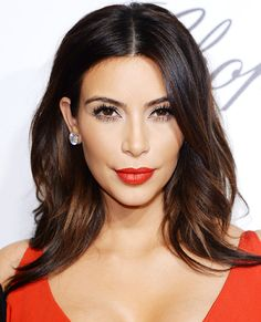 Kim Kardashian hair + makeup