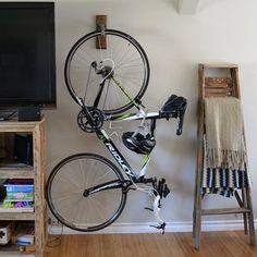 Wall bike rack hanging display | Etsy Wooden Bicycle, Bicycle Tires, Bike Storage Apartment, Bicycle Hanger, Vertical Bike Rack, Indoor Bike Storage, Wall Mount Bike Rack, Bike Storage Solutions, Color Secundario